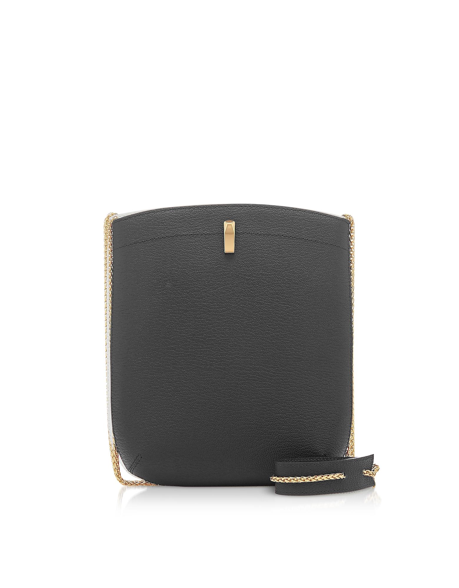 The Volon Designer Handbags, E.Z. Carry Black Leather Bag