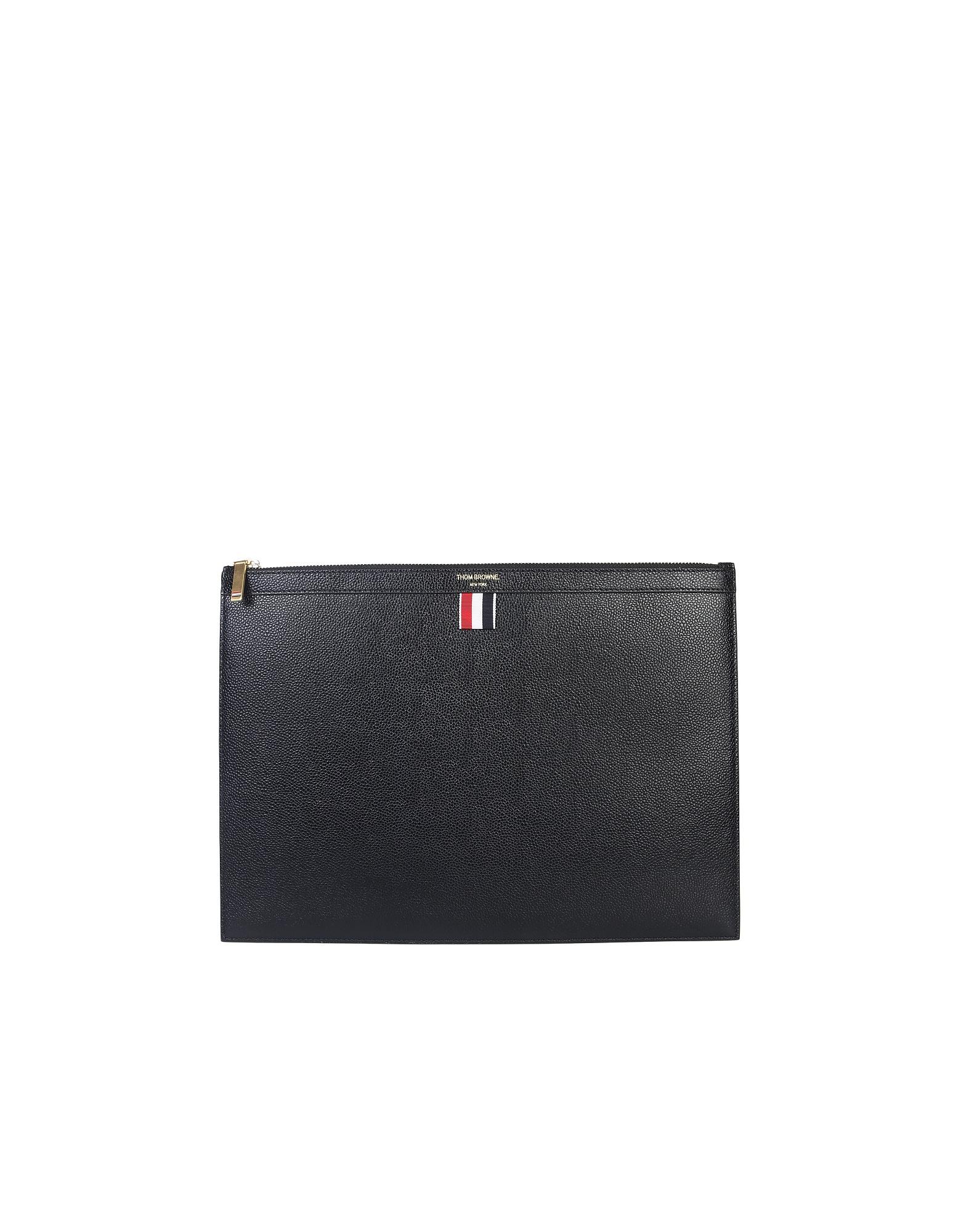 Thom Browne Designer Men's Bags, Medium Document Holder/Clutch