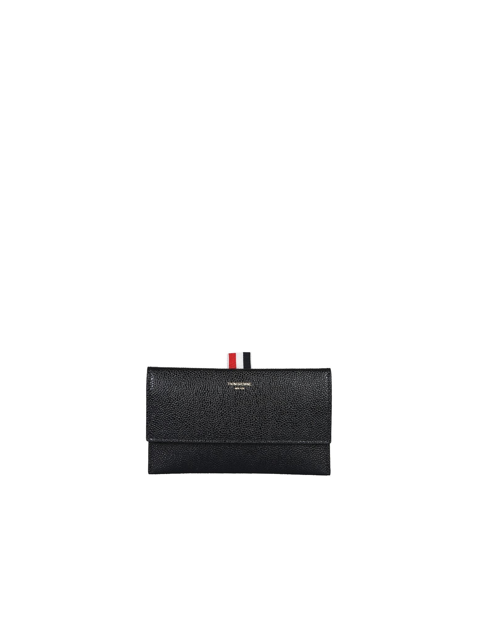 Thom Browne Designer Wallets, Wallet With Flap