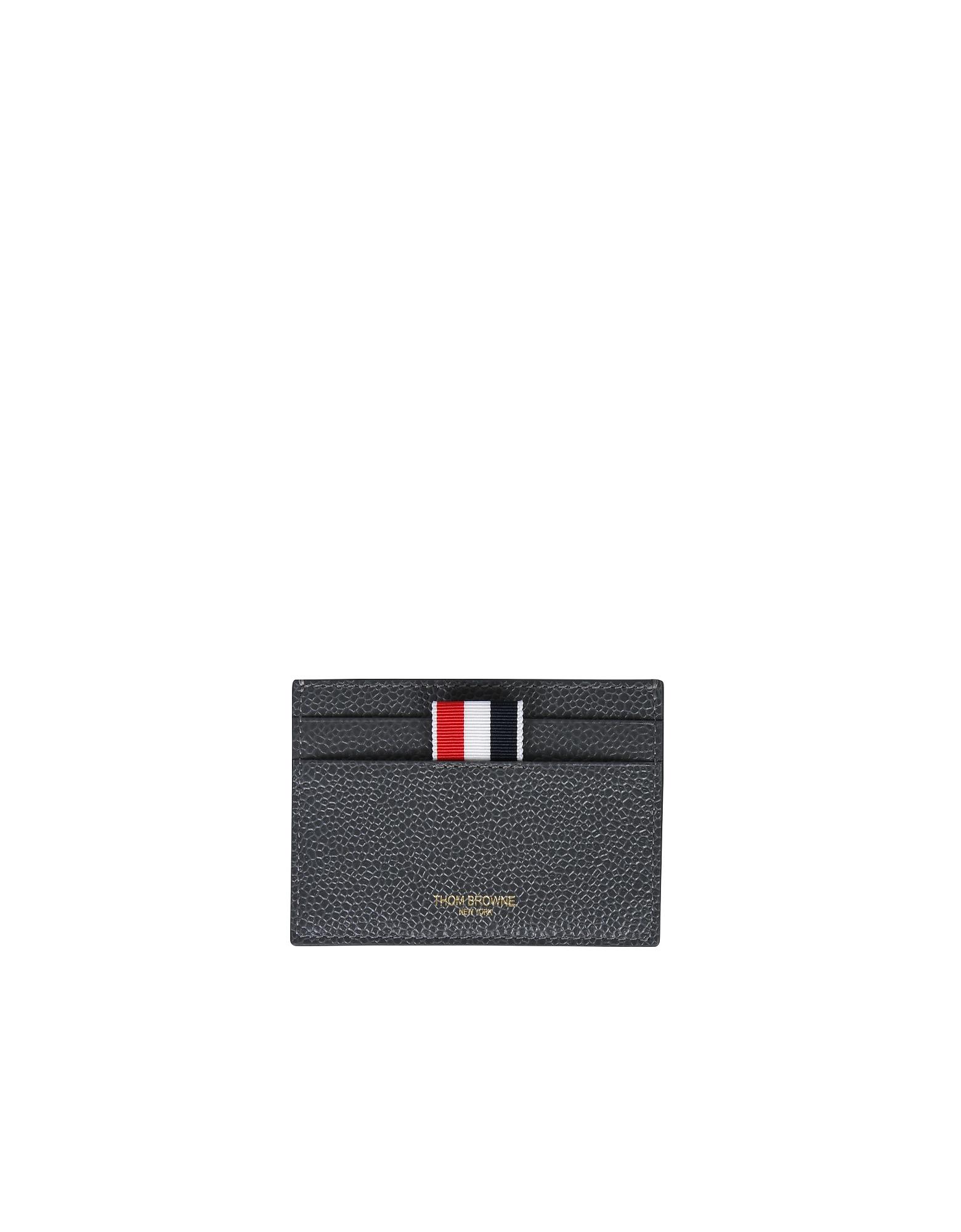 Thom Browne Designer Wallets, Card Holder With Logo