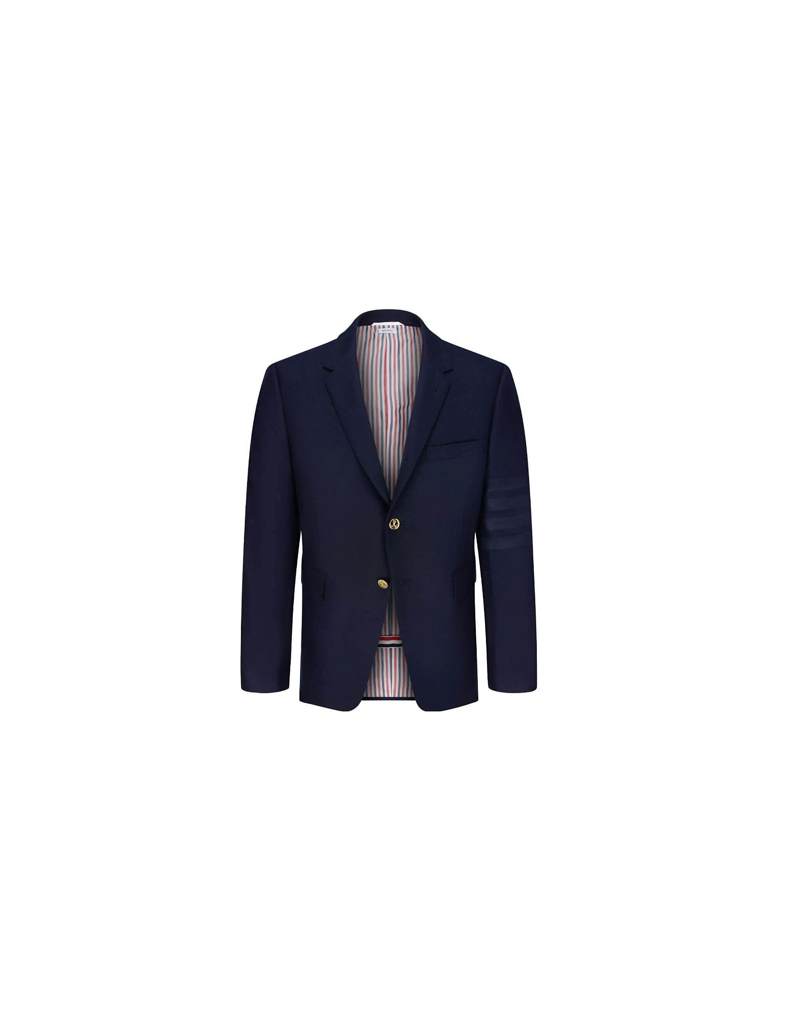 Thom Browne Designer Coats & Jackets, Blue Wool and Cashmere Men's Blazer