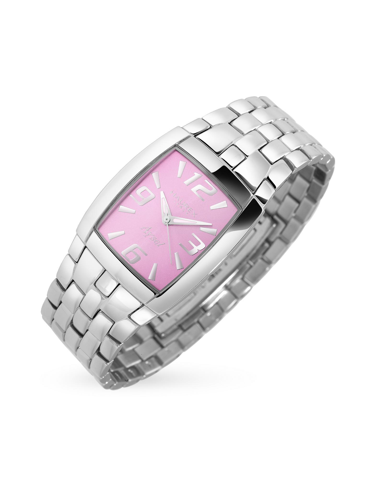 Haurex  Aysel Women's Pink Dial Stainless Steel Watch