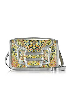 Alpha Multi Yellow & Silver Metallic Leather Crossbody Clutch - Pierre Hardy