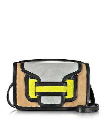 Pierre Hardy - Alpha Multicolor Suede & Black Leather Crossbody Clutch