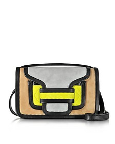 Alpha Multicolor Suede & Black Leather Crossbody Clutch - Pierre Hardy