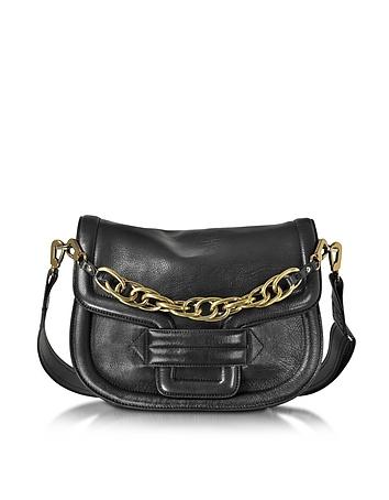 Pierre Hardy - Alphaville Black Grained Leather Shoulder Bag
