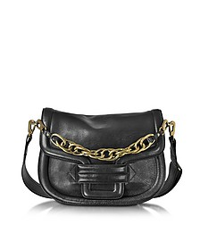 Alphaville Black Grained Leather Shoulder Bag  - Pierre Hardy
