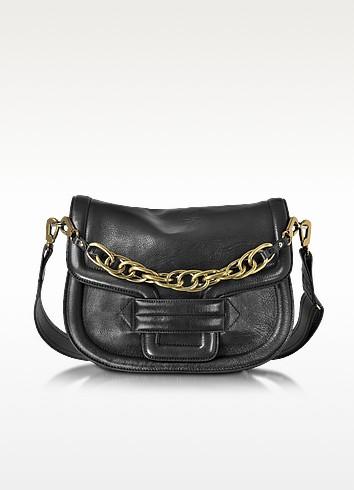 Alphaville Black Grained Leather Shoulder Bag  - Pierre Hardy