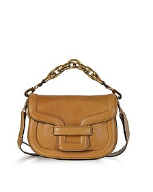 Camel Grainy Leather Mini Alpha Ville Shoulder Bag - Pierre Hardy