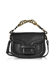 Black Grainy Leather Mini Alpha Ville Shoulder Bag - Pierre Hardy