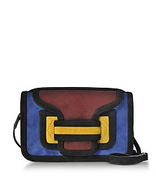 Color Block Suede Alpha Crossbody Clutch - Pierre Hardy
