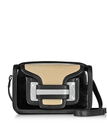 Pierre Hardy - Color Block Patent Leather Alpha Crossbody Clutch