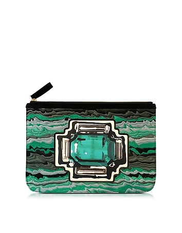Gem Green Leather Pouch
