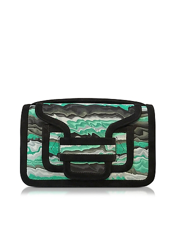 Alpha Green Suede Clutch