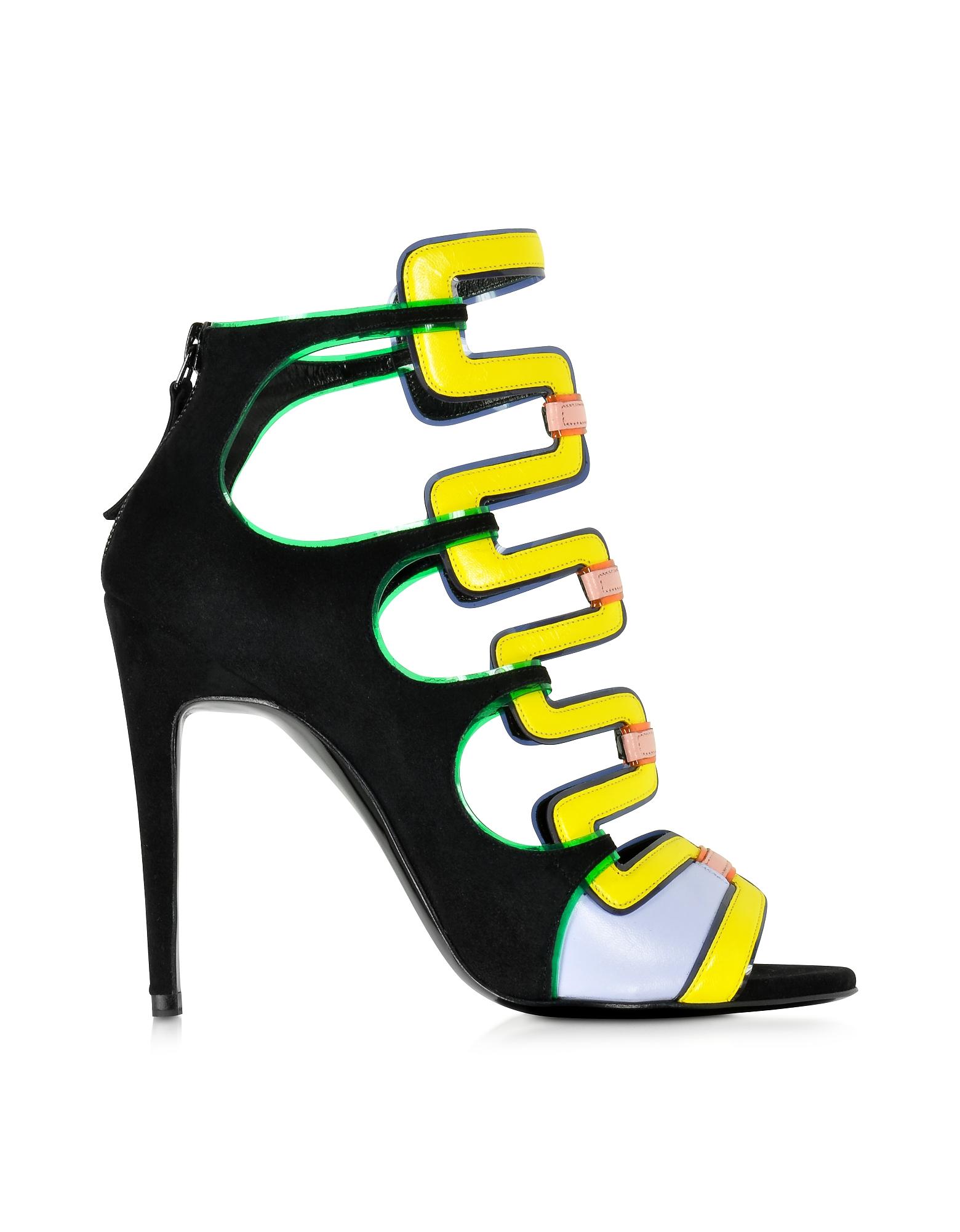 Pierre Hardy Shoes, Kaliste Multicolor Suede Sandal