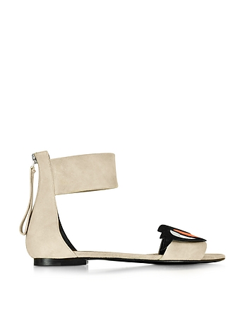 Oh Roy Nude Suede Flat Gladiator Sandal