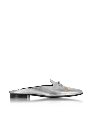 Pierre Hardy - Mademoiselle Jacno Silver Metallic Leather Mule