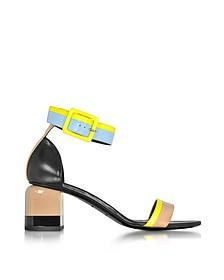 Memphis Multicolor Leather Sandal - Pierre Hardy