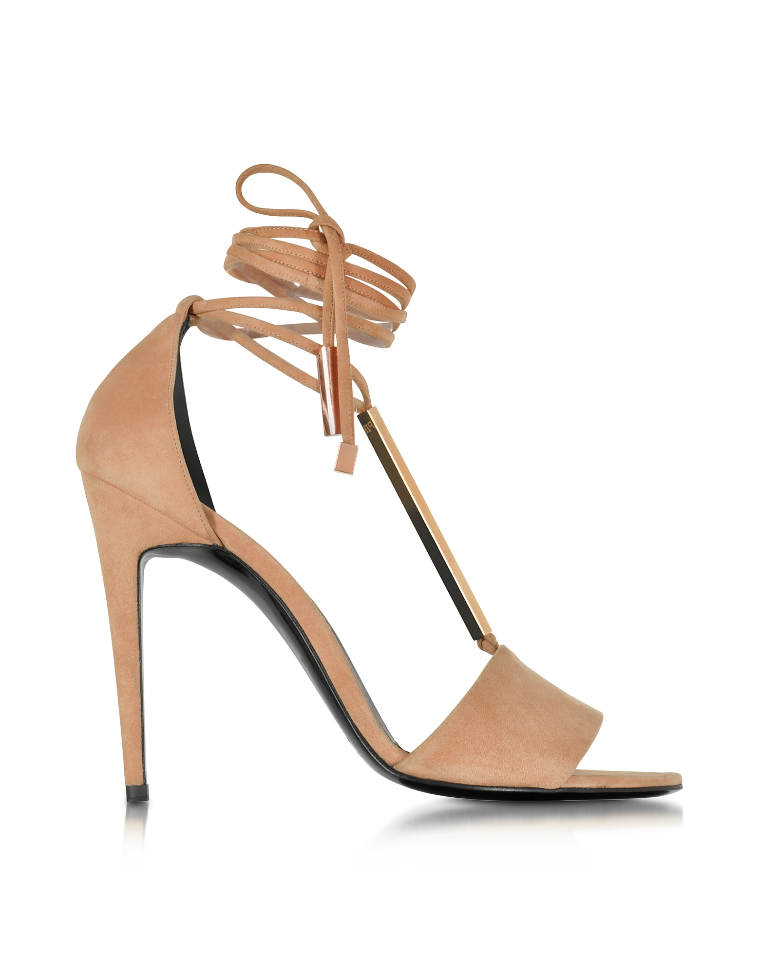 Pierre Hardy Shoes, Blondie Nude Suede High Heel Sandals