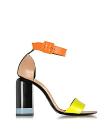Memphis Yellow, Nude & Orange Leather Sandals - Pierre Hardy