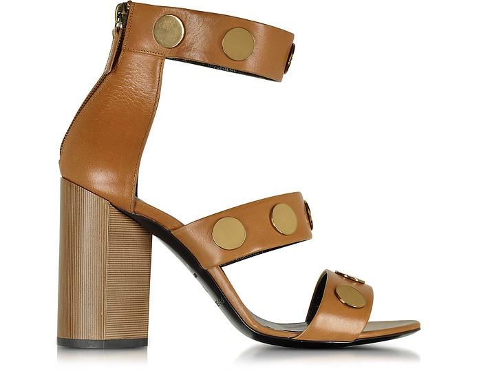 Penny Camel Leather High Heel Sandal - Pierre Hardy