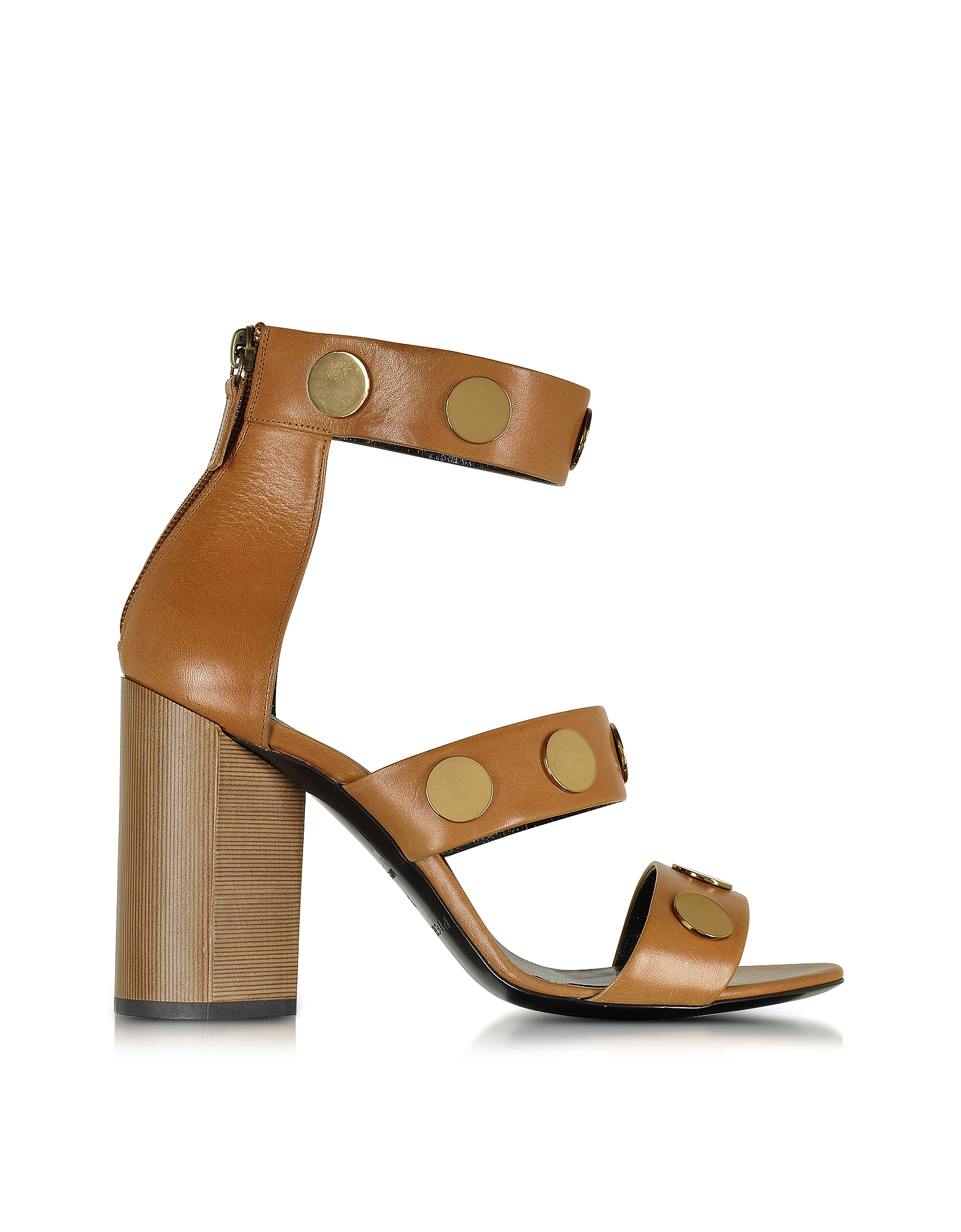 Pierre Hardy Shoes, Penny Camel Leather High Heel Sandal
