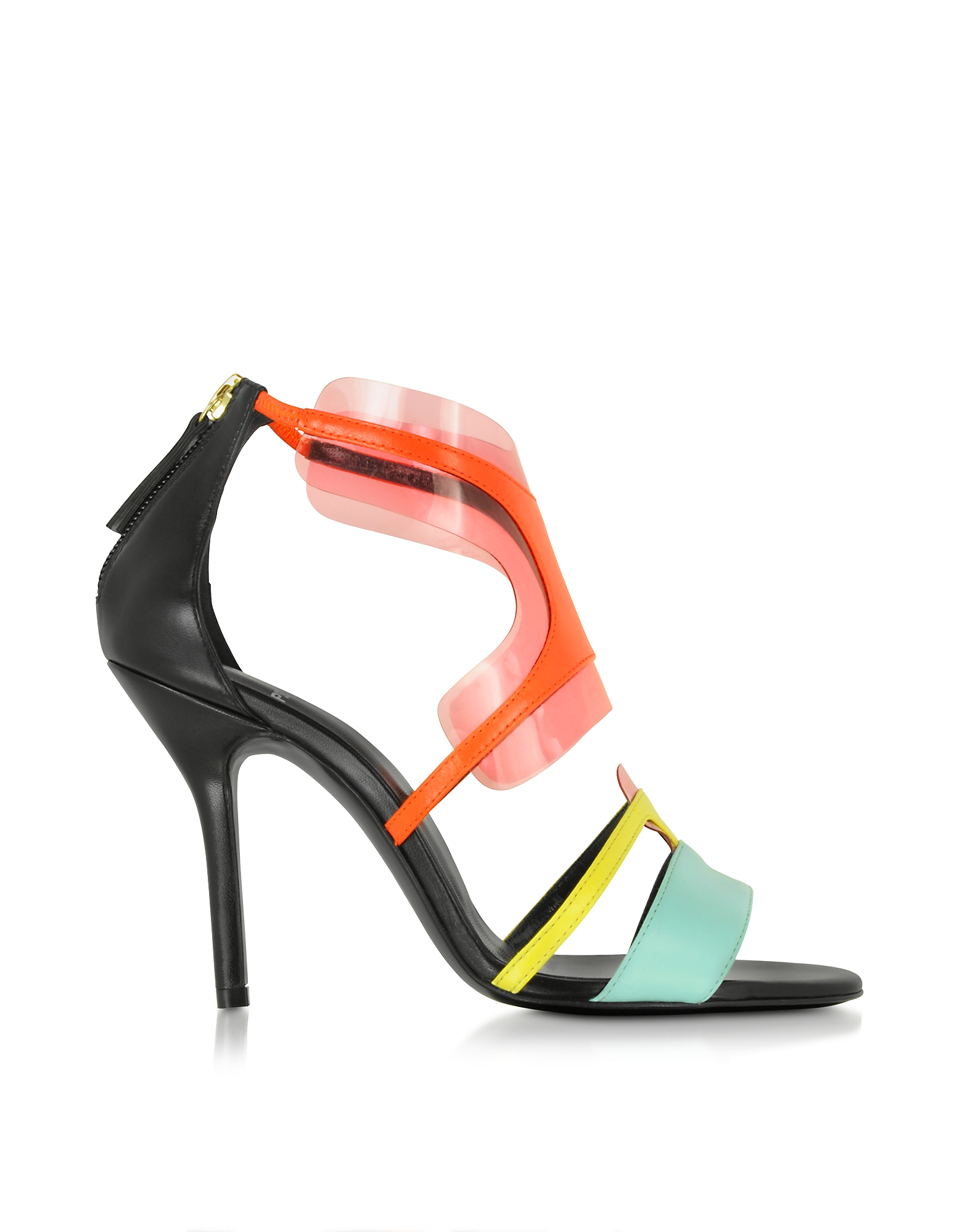 Pierre Hardy Shoes, Multi Pool Shades Leather and PVC Sandal