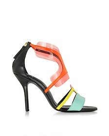 Multi Pool Shades Leather and PVC Sandal - Pierre Hardy