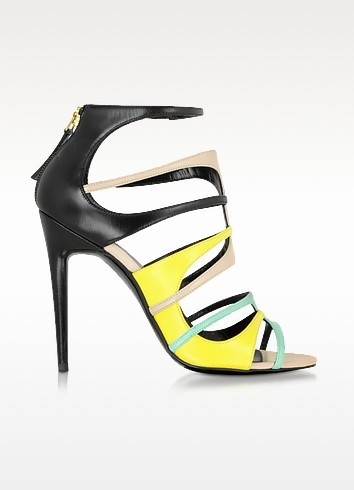 Multicolor Pool Leather Carioca Sandal - Pierre Hardy
