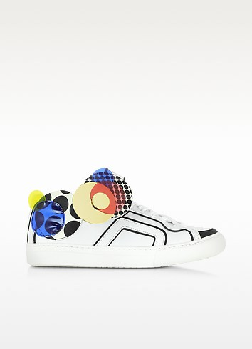 Multicolor White Leather Sneaker - Pierre Hardy