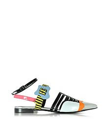 Multicolor Stripes Leather Alchimia Flat Sandal - Pierre Hardy