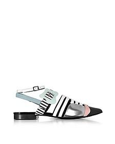 Multicolor Stripes Leather Alchimia Flat Sandal - Pierre Hardy