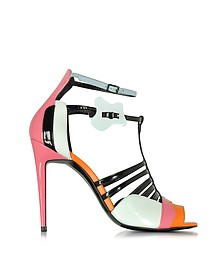 Patent Leather and Kid Pink High Heel Sandals - Pierre Hardy
