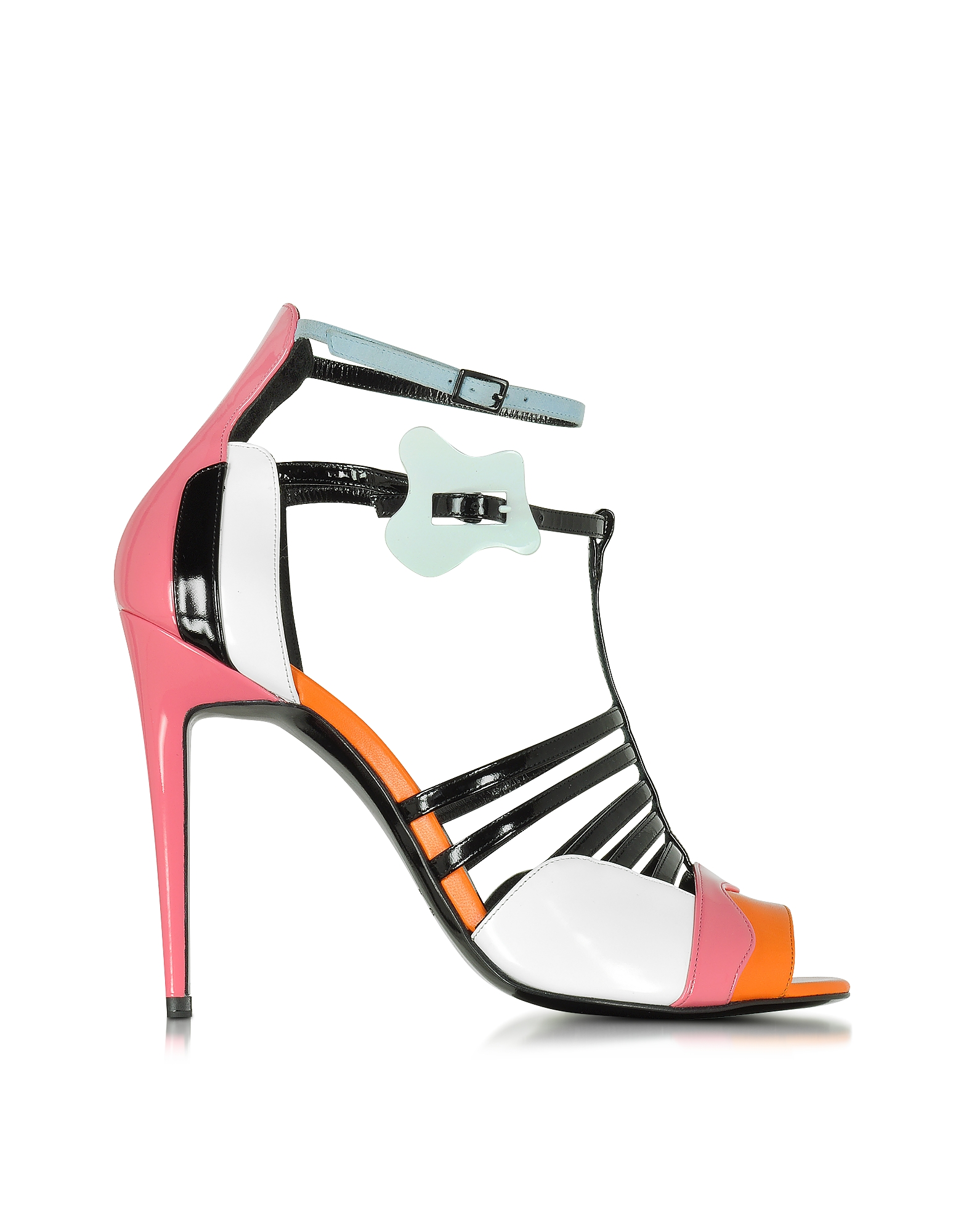 Pierre Hardy Shoes, Patent Leather and Kid Pink Alchimia High Heeled Sandal