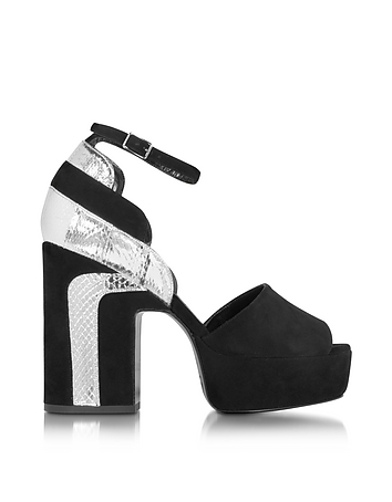 Pierre Hardy - Roxy Black Suede and Silver Ayers Platform Sandal