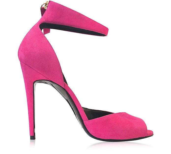 Flash Pink Suede Sandal - Pierre Hardy