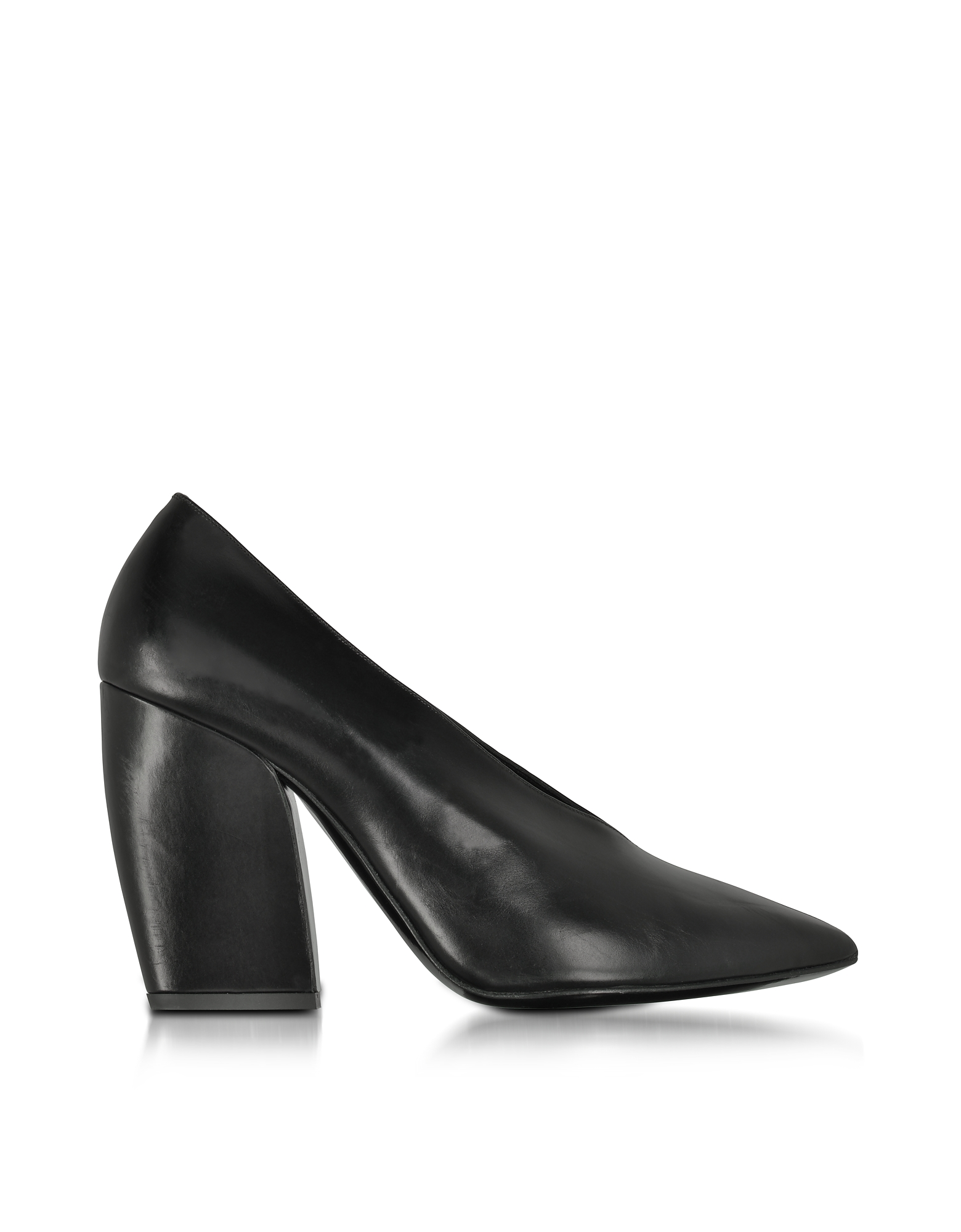 Pierre Hardy Shoes, Paloma Black Leather Pump