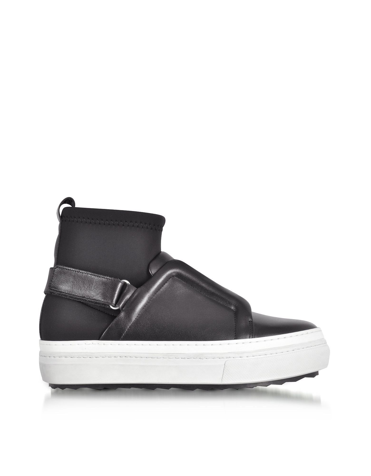 Pierre Hardy Shoes, Slider Fusion Black Neoprene and Leather Sneaker