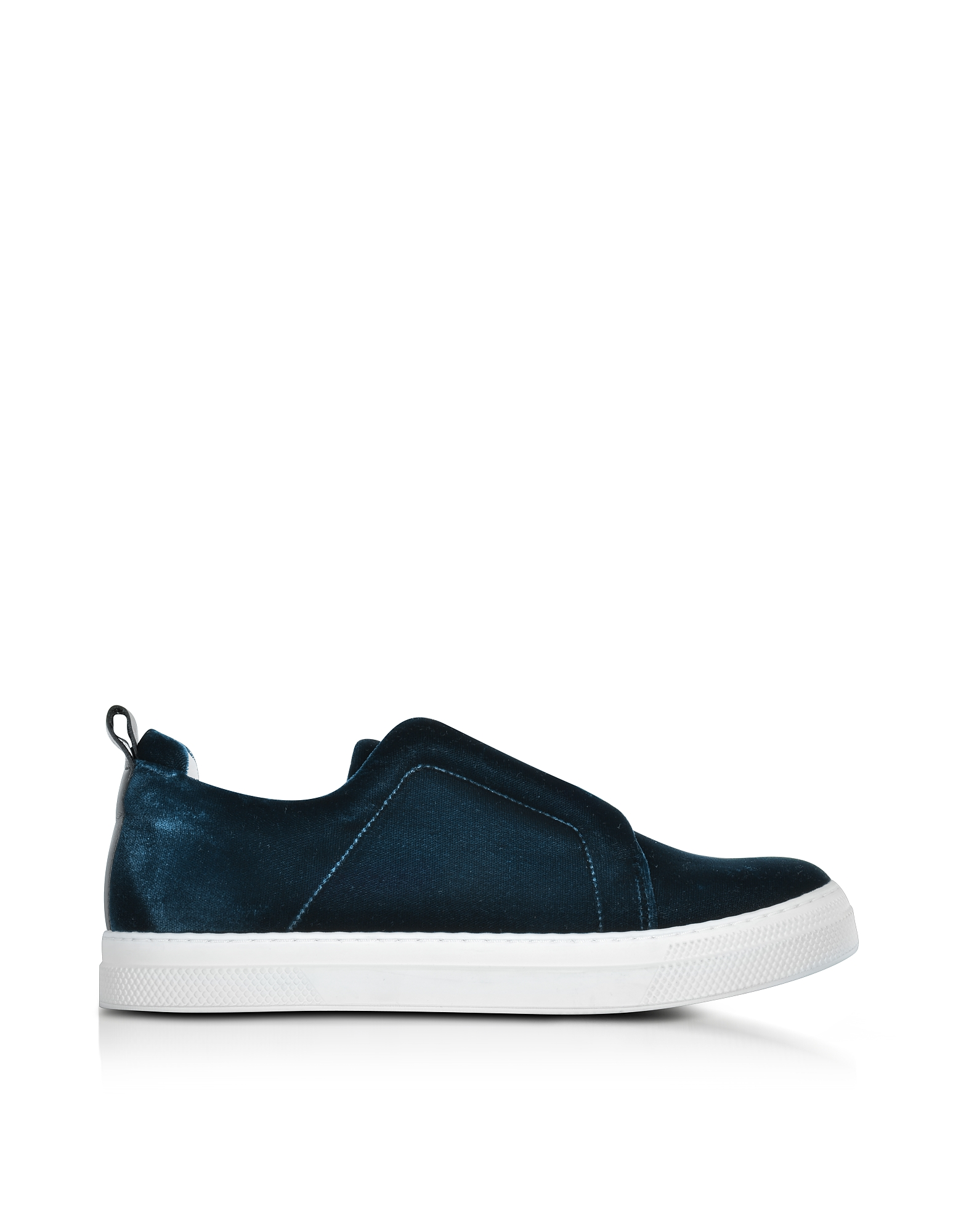 Pierre Hardy Shoes, Slider Petrol Velvet Sneaker