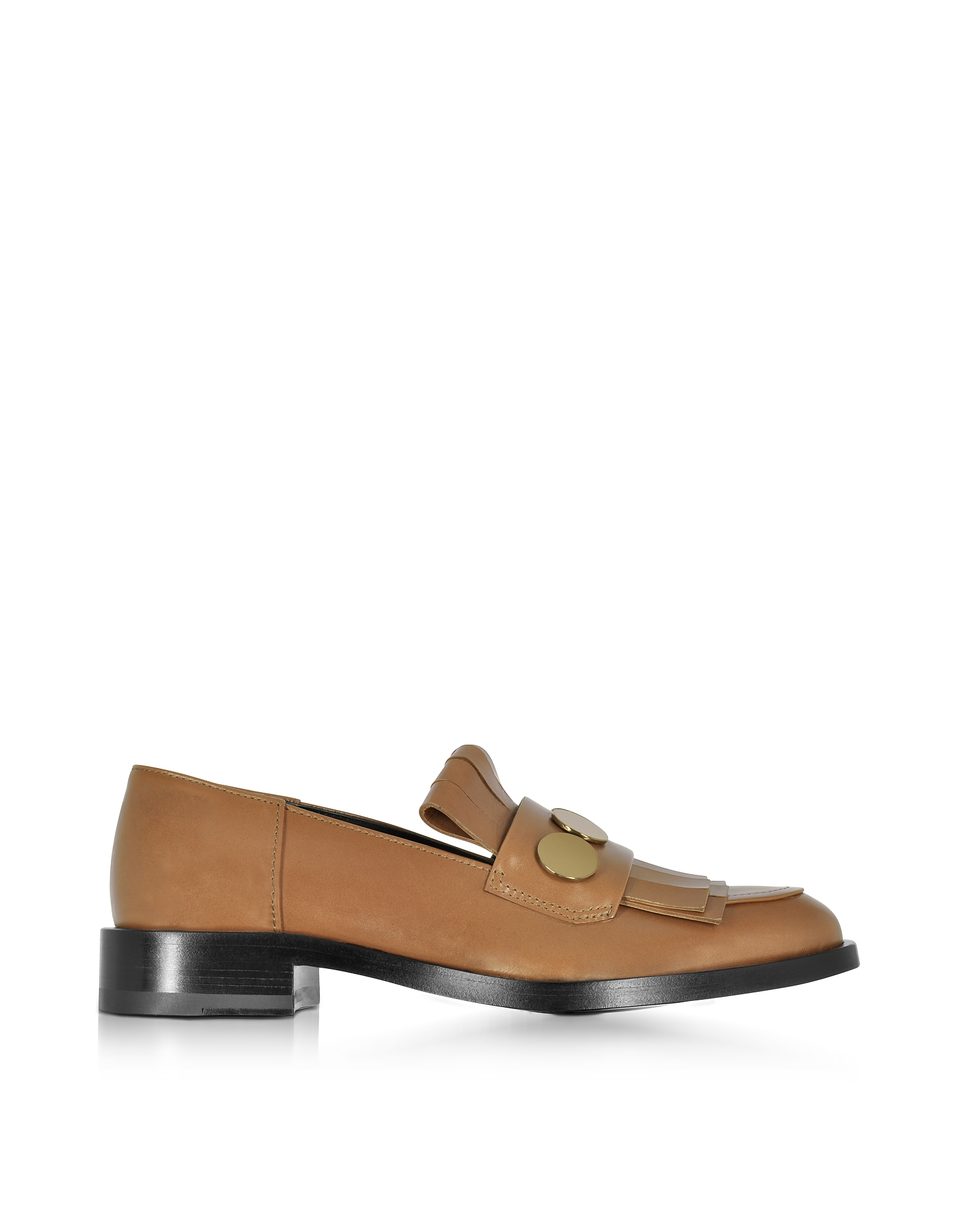 Pierre Hardy Hardy Dandy Penny Camel & Bronze Leather Loafer