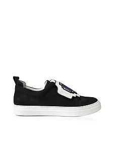Gem Black Suede Slip-On Sneaker - Pierre Hardy