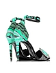 Mega Gem Green Leather and Haircalf Sandal - Pierre Hardy