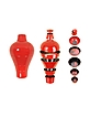 Red Ming Vase / Stackable Bowls - Ibride