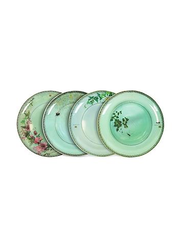 Ibride Yuan - Set de Quatre Assiettes Plates