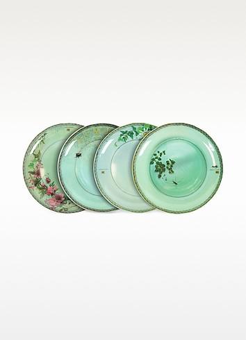 Yuan Gray Set of 4 Extra Plates  - Ibride