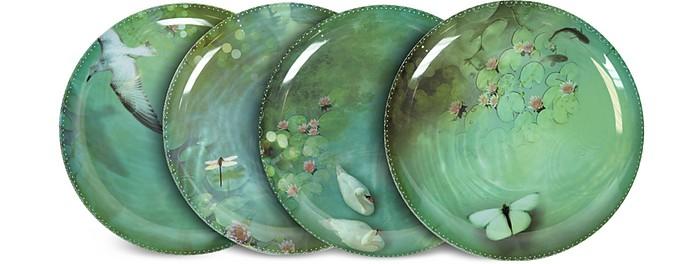 Yuan Black Set of 4 Extra Plates  - Ibride