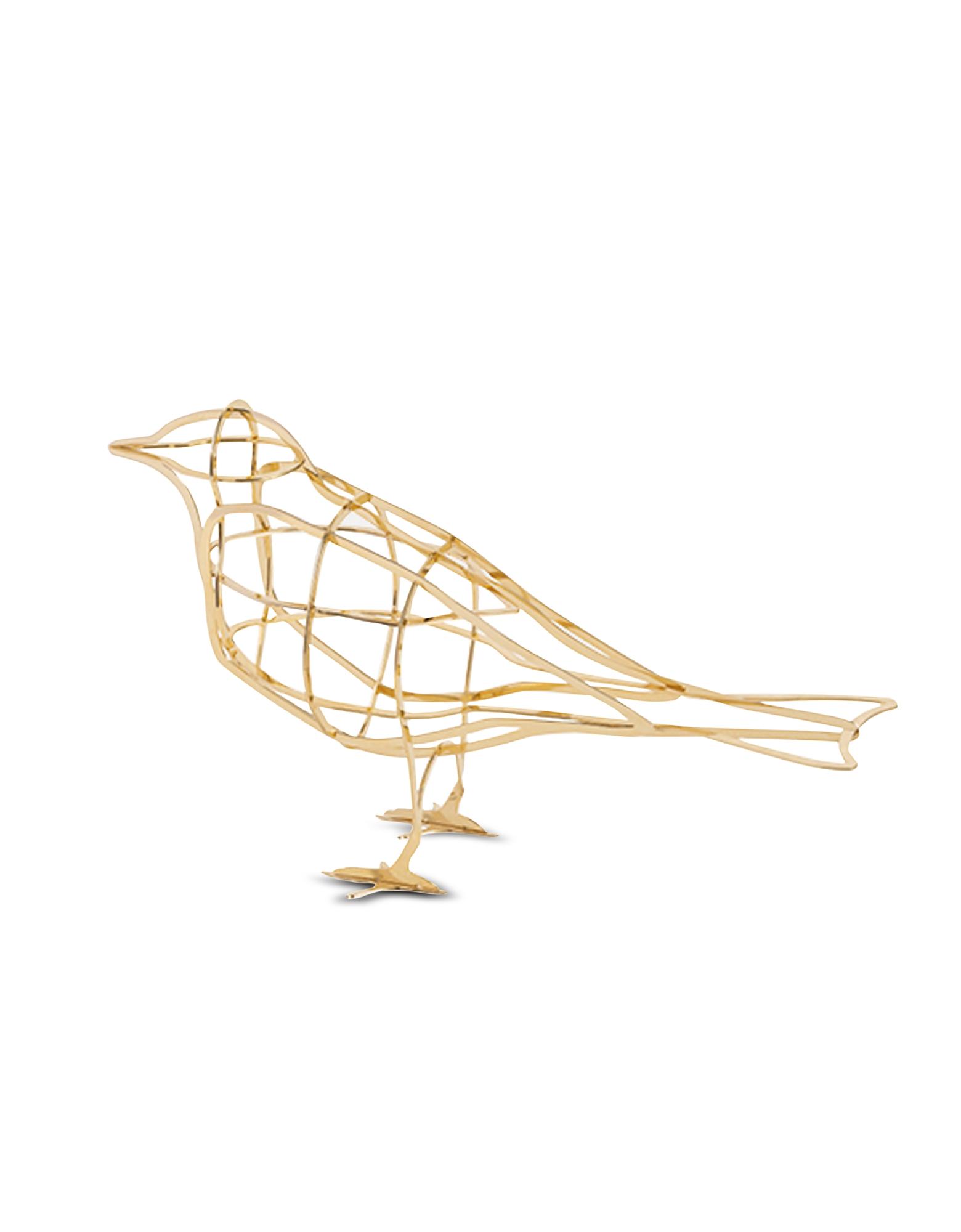 Ibride Designer Decor & Lighting, Petites Présences De L'Aube Gold-tone Metal Decorative Bird