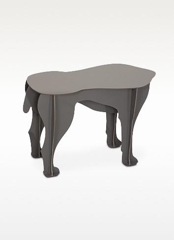 Sultan tavolino sgabello a forma di cane ibride grigio for Tavolino sgabello