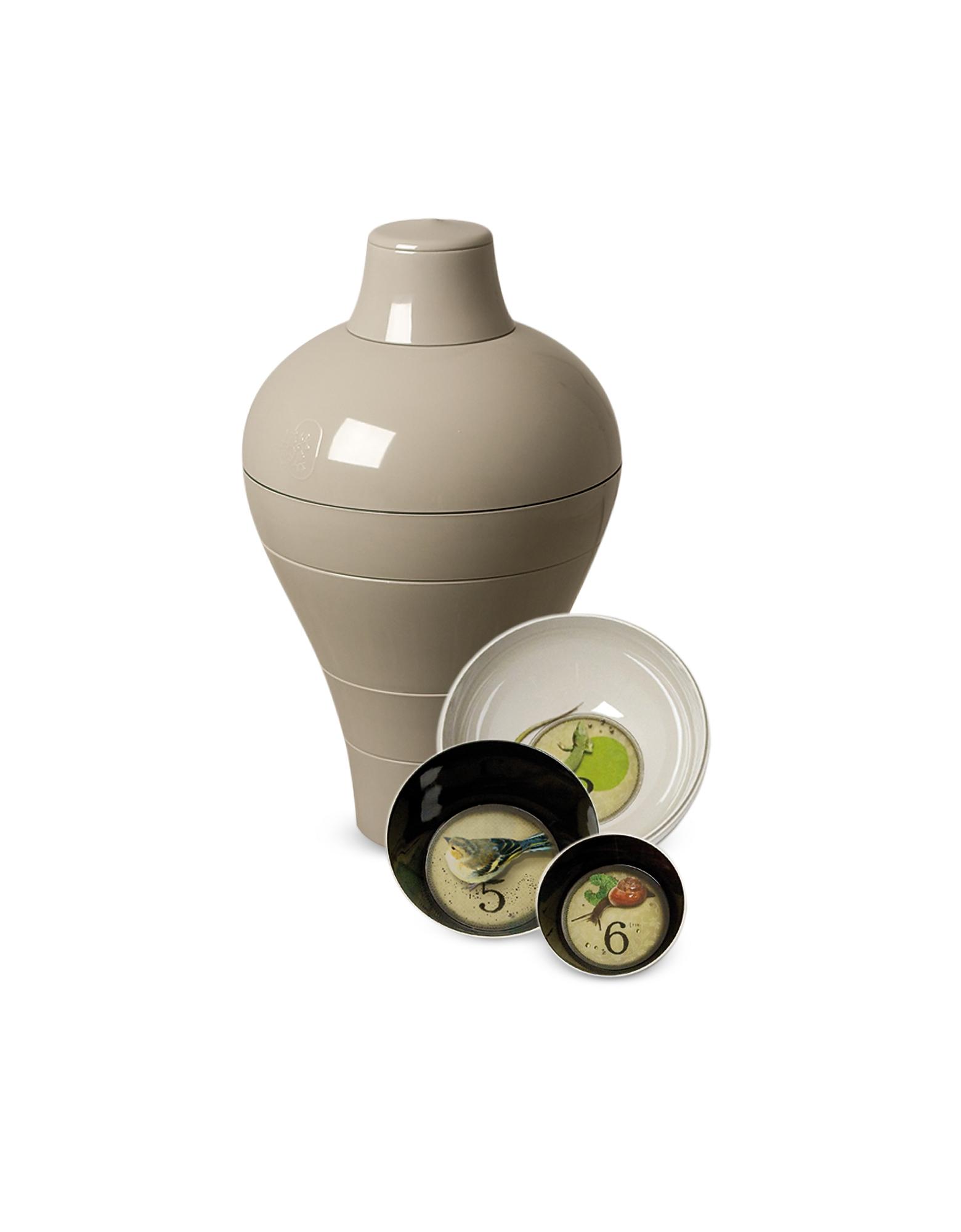 Image of Ibride Designer Kitchen & Dining, Grey Ming - Vase/Stackable Bowls