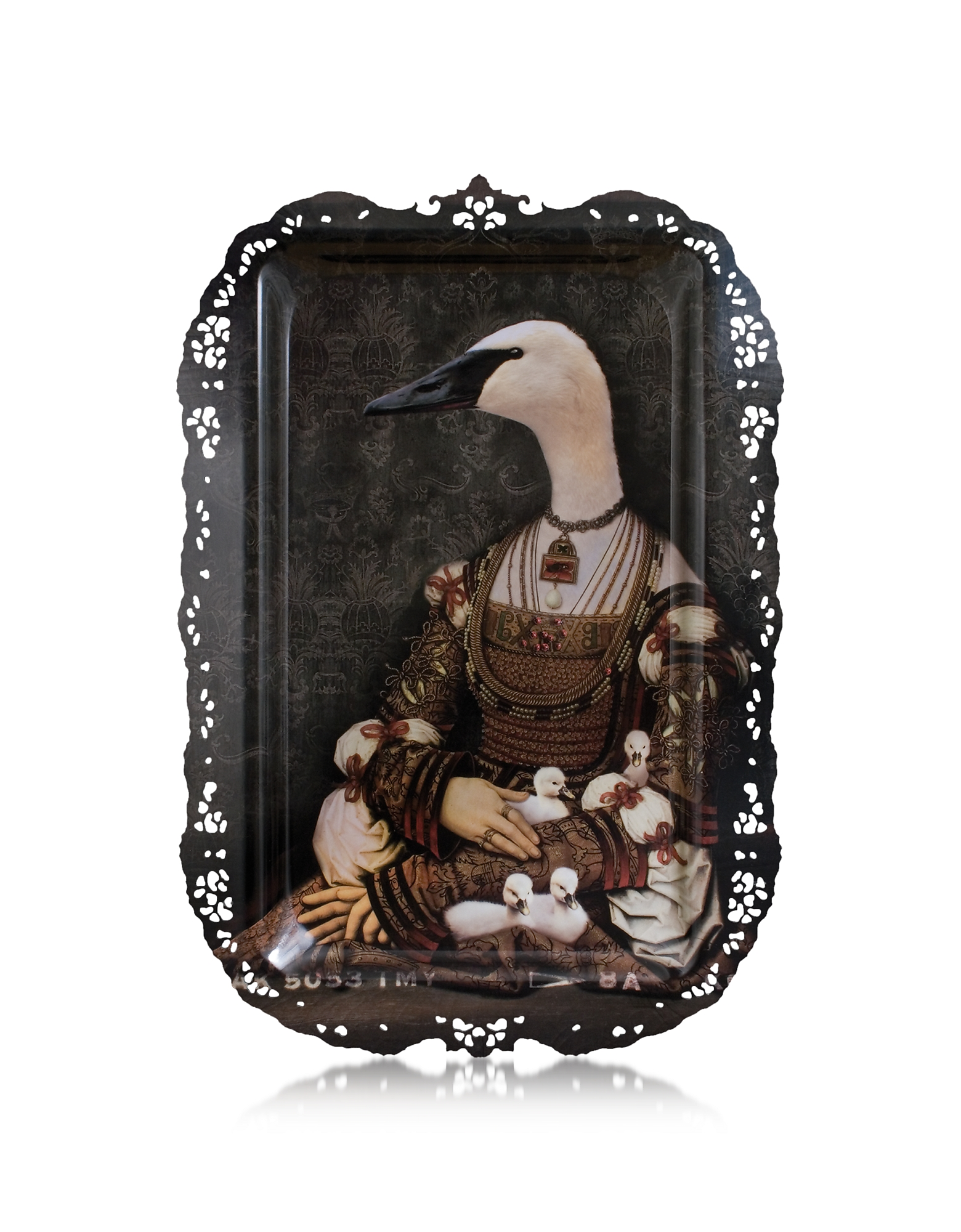 Image of Ibride Designer Paintings, Le Grand Theatre - Bianca Rectangular Tray